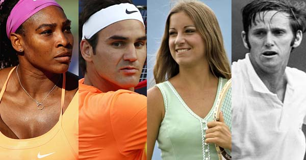 Most Tennis Grand Slam Titles Winners Men and Women